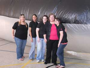 Ambassadors and Karen Carey with the whale